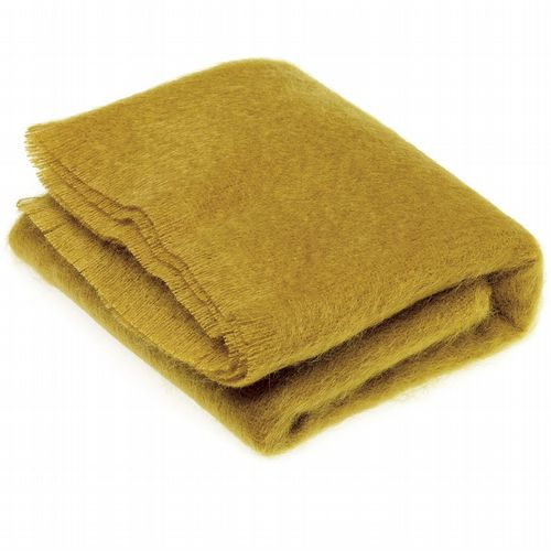 Mohair Throw - Burnt Gold
